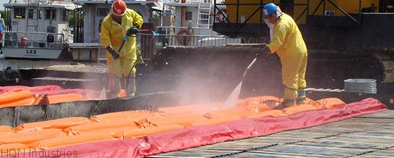 Spill containment berms from HQN in Canada