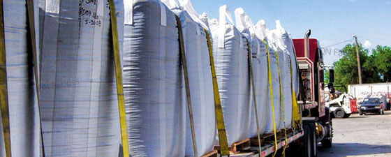HQN provides FIBC bulk bags for flowable waste and bulk materials