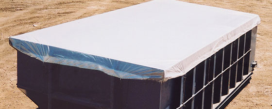 Raincap covers are a cost-effective alternative to traditional tarping products covers